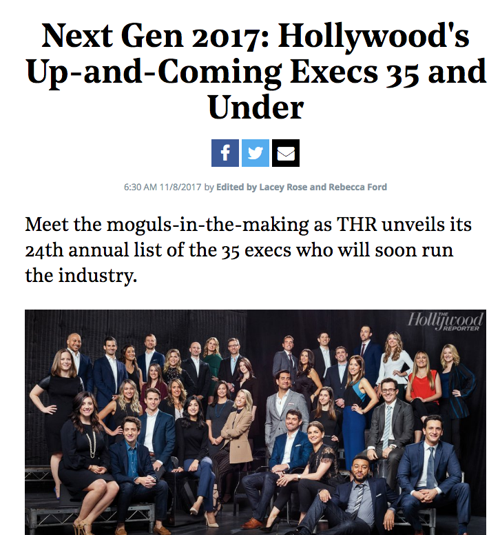 Next Gen 2017: Hollywood's Up-and-Coming Execs 35 and Under