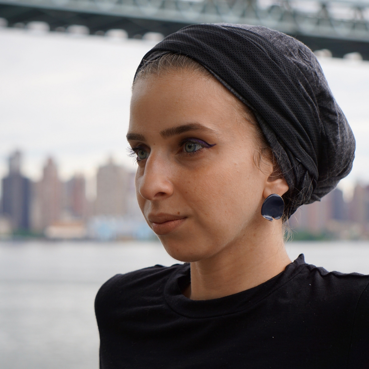 Profile of Jenna Hamed with headscarf