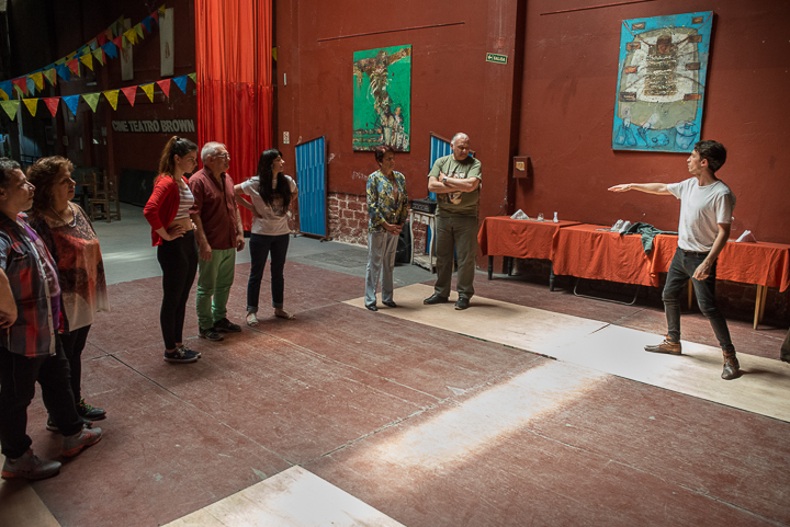 Community theater workshop at Teatro Brown led by Horacio Pérez Photo by: Pato Hebert