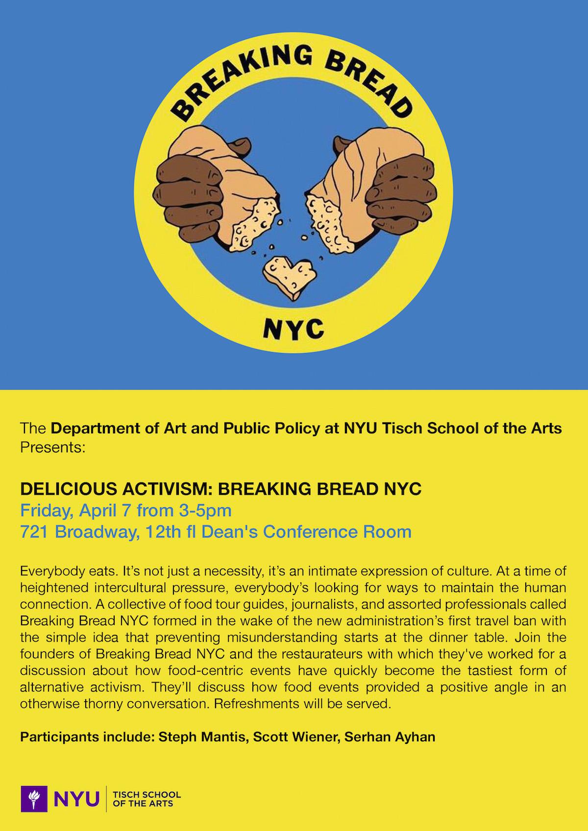 Delicious Activism Breaking Bread Nyc