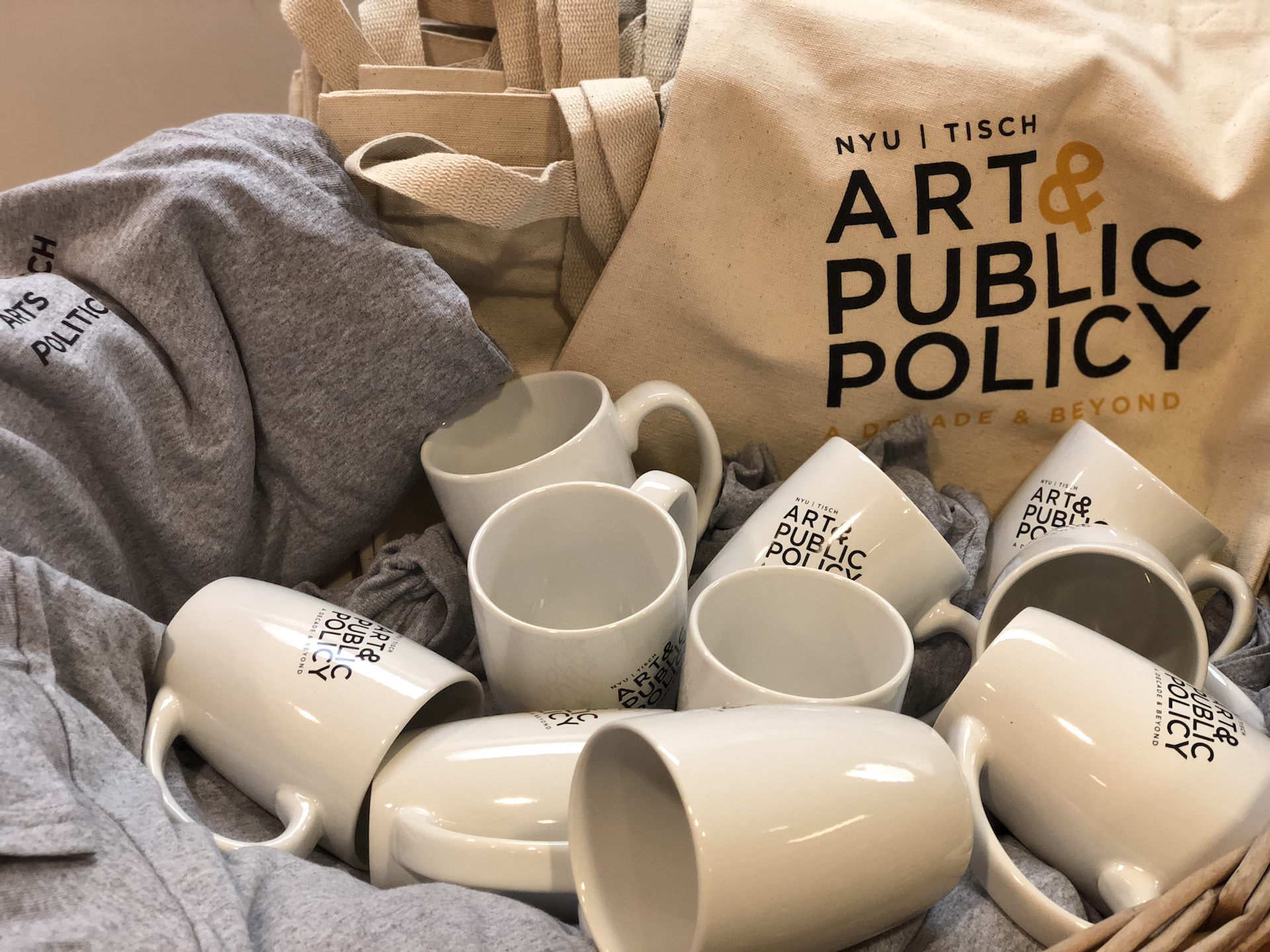 Art & Public Policy mugs, t-shirts, and tote bags