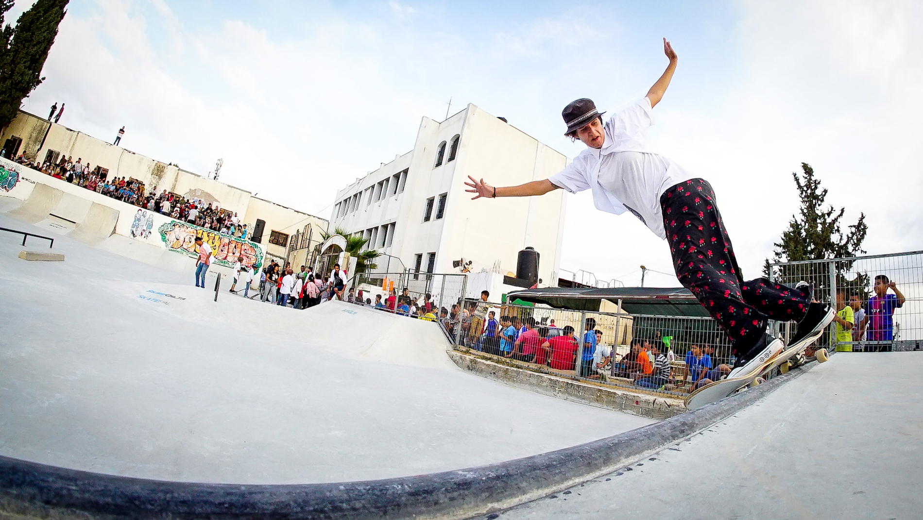 A skate boarder in A Skate Play