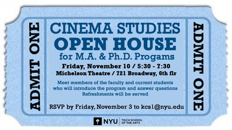 Cinema Studies Open House