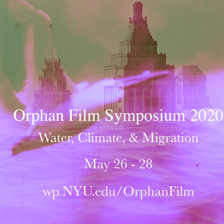 banner that reads: Orphans Film Symposium 2020: Water, Climate, and Migration