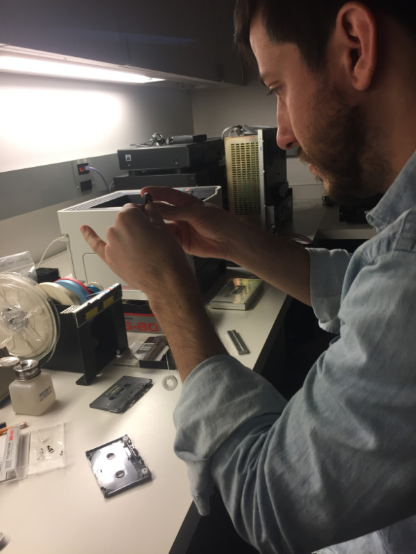 Gregory Helmstetter interning at New York Public Library in Fall 2017