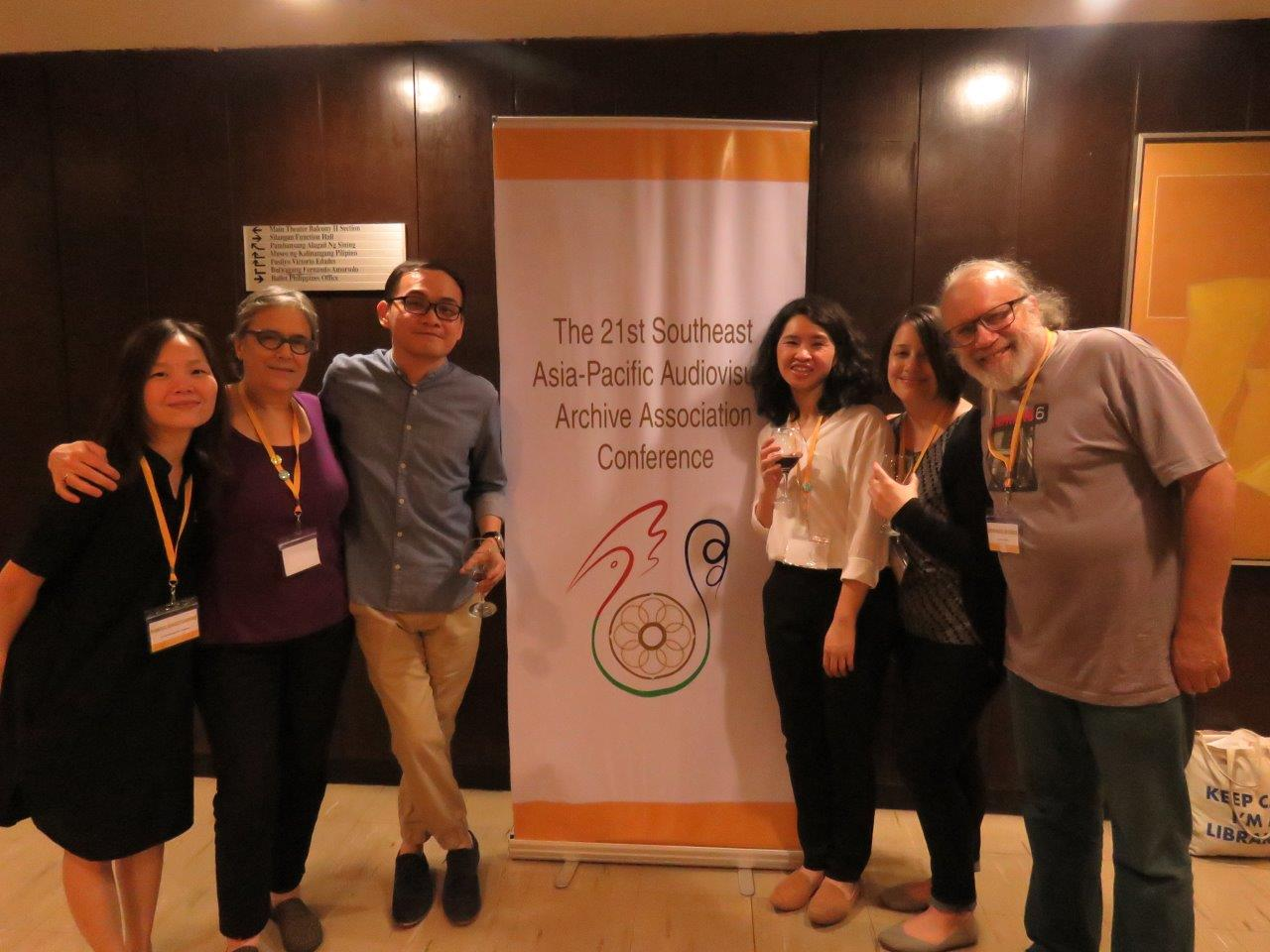 MIAP alumni & faculty at the 21st South East Asia-Pacific Audio Visual Archives Association (SEAPAVAA) conference in Manila (3-8 April, 2017)