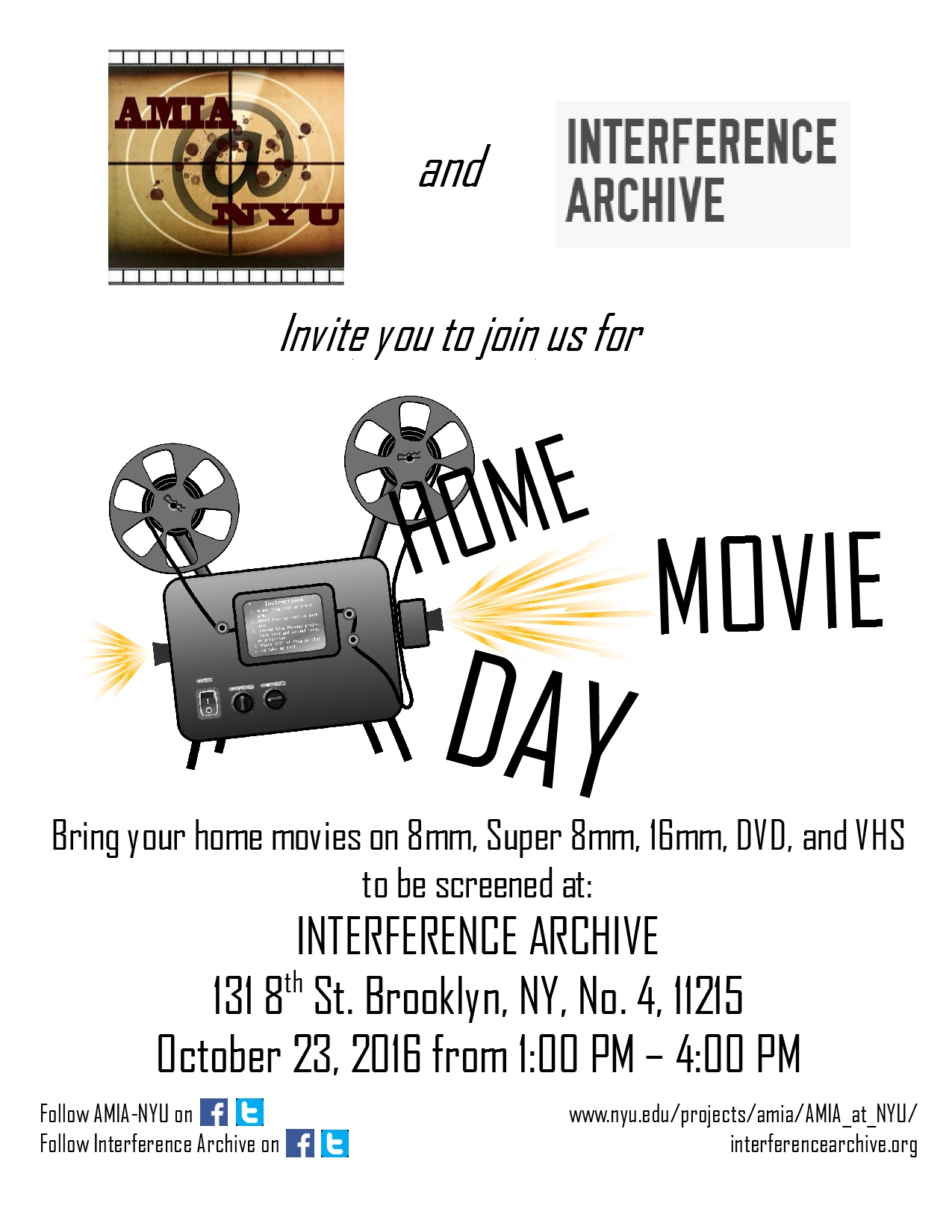 Home Movie Day Flyer