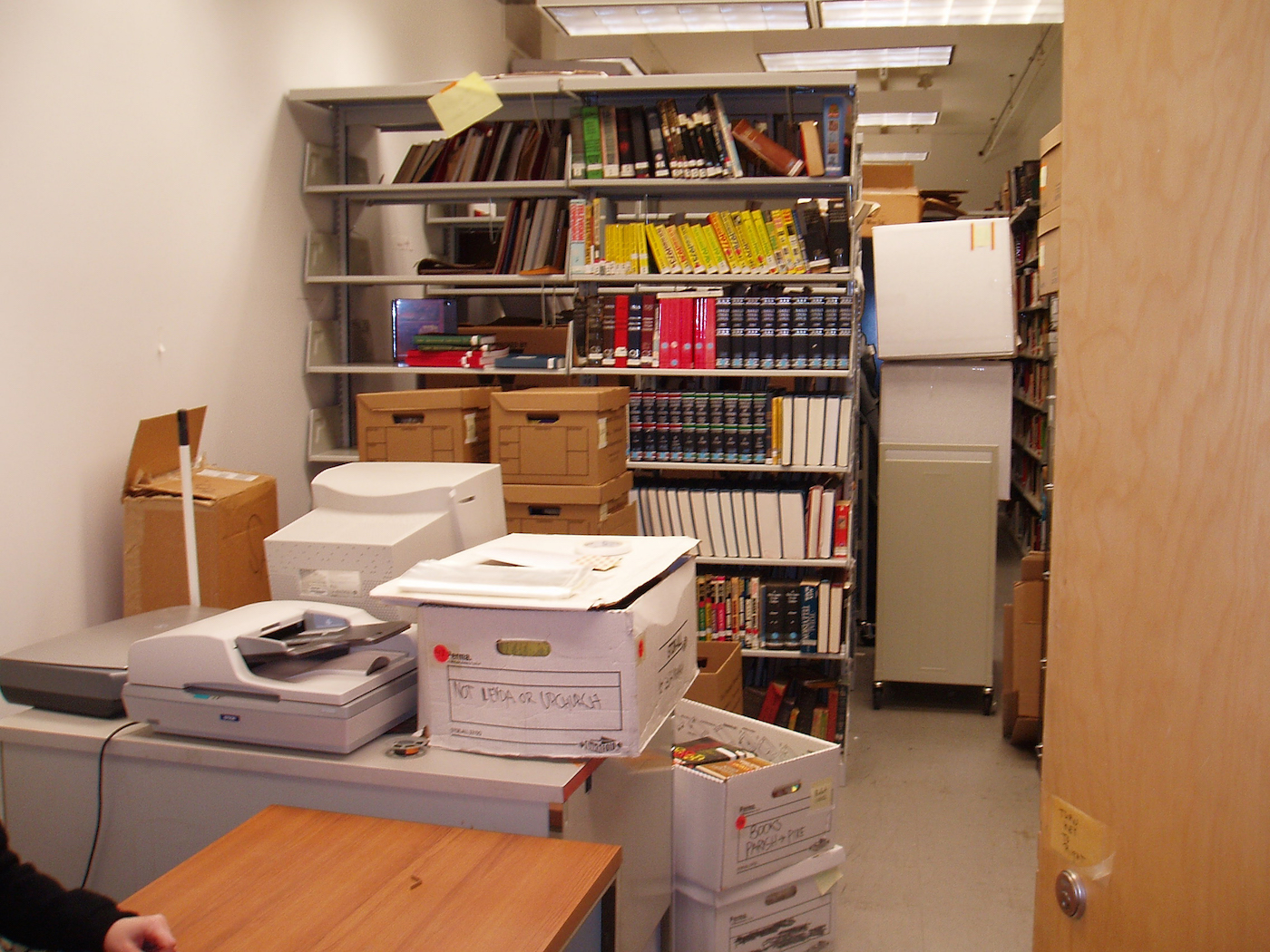 The Cinema Studies Archive moving into its current home at 665 Broadway in 2007.