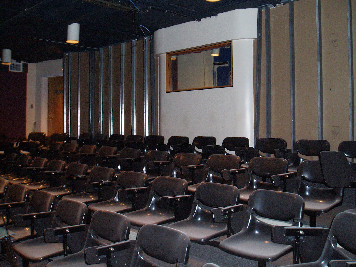 The large screening room before being renovated in 2007.