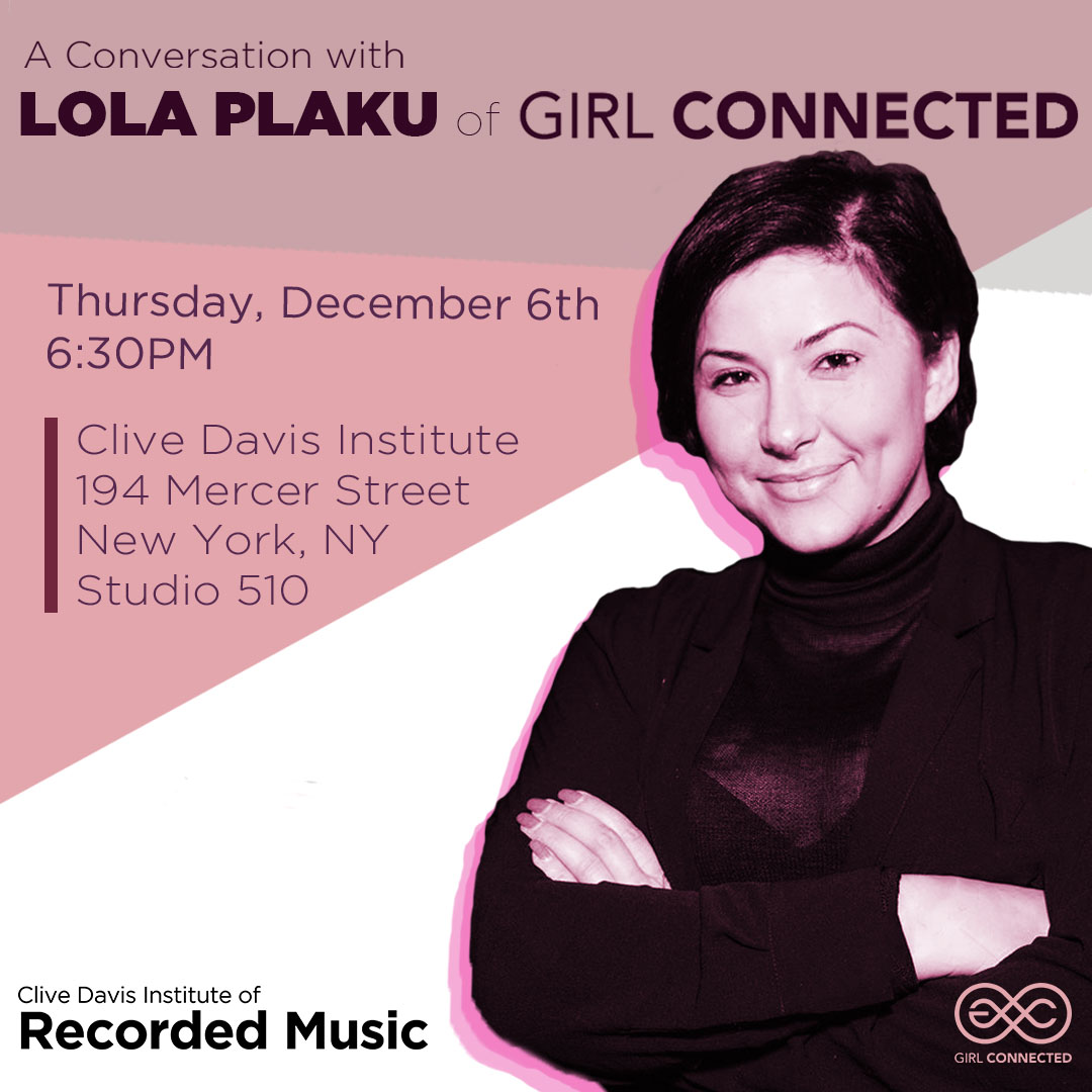 flyer with image of special guest Lola Plaku