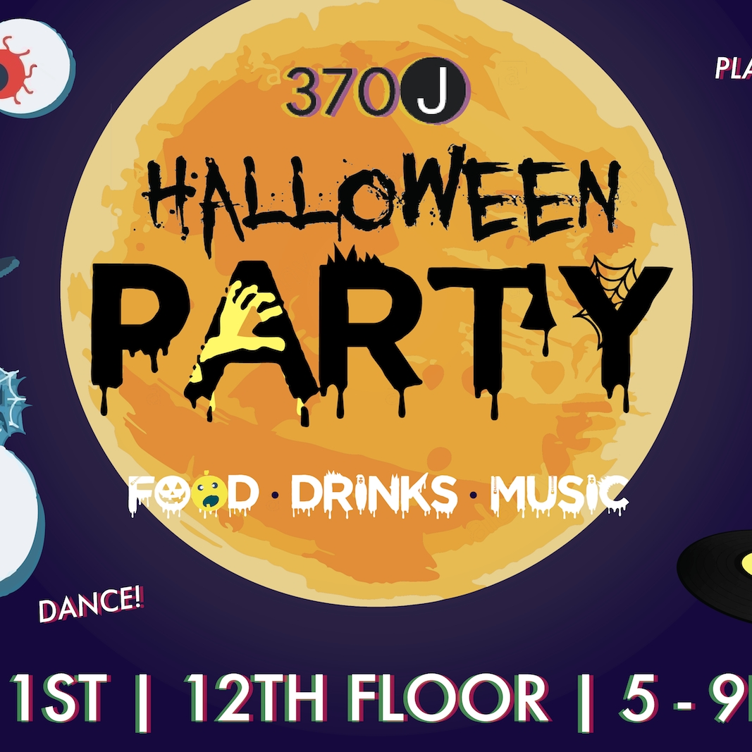 Flyer for 370J Halloween Party