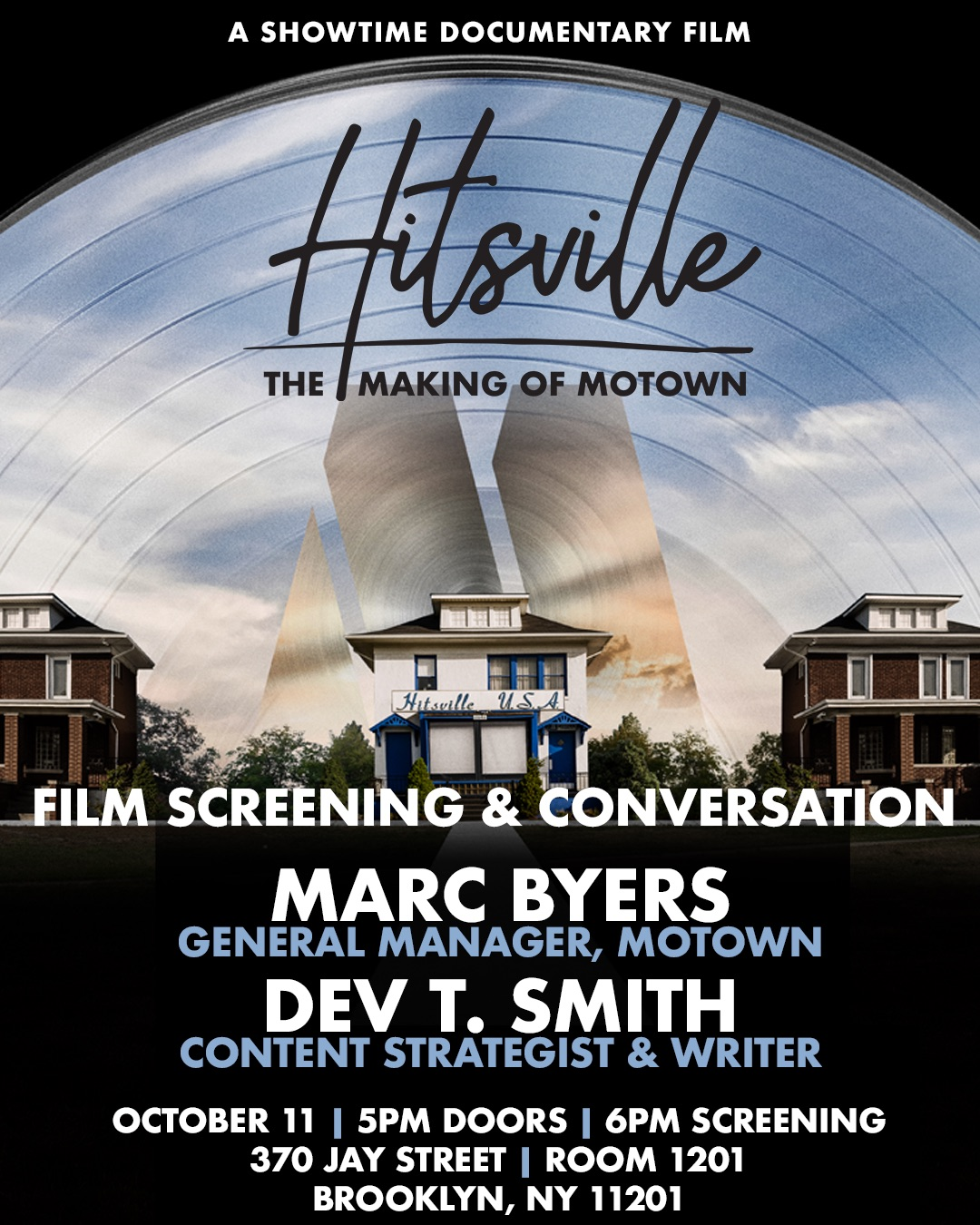 Poster for film, HITSVILLE: THE MAKING OF MOTOWN