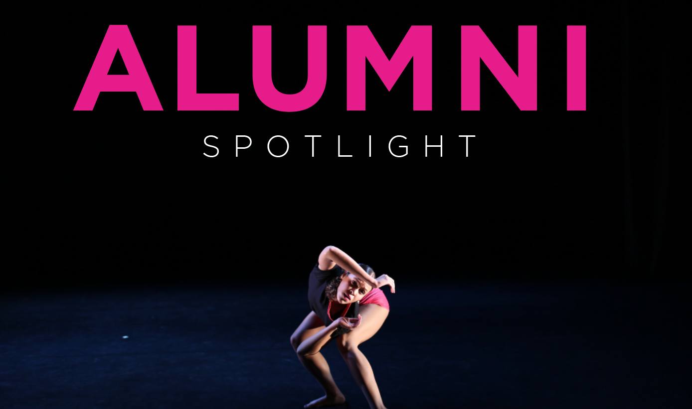 alumni spotlight, a dancer centered on stage