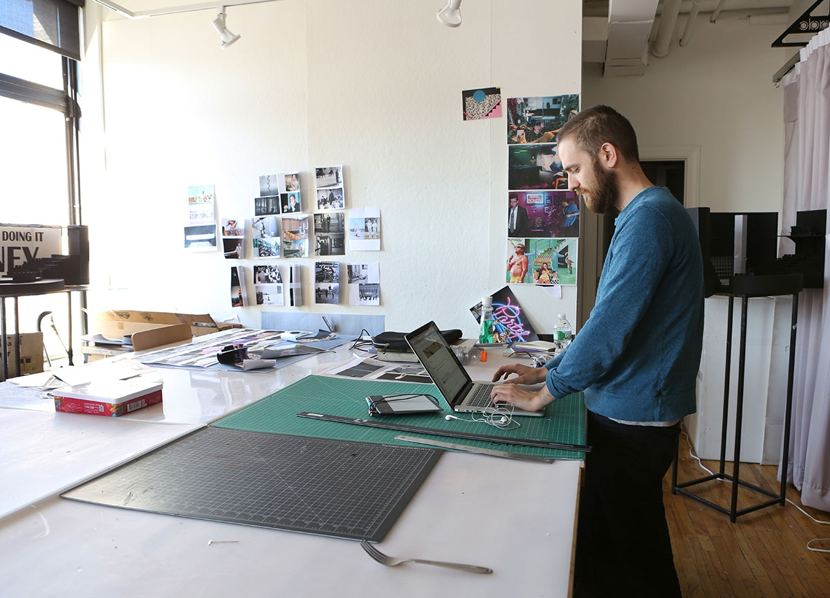 Dedicated student workspace on mercer street for Nyu tisch design