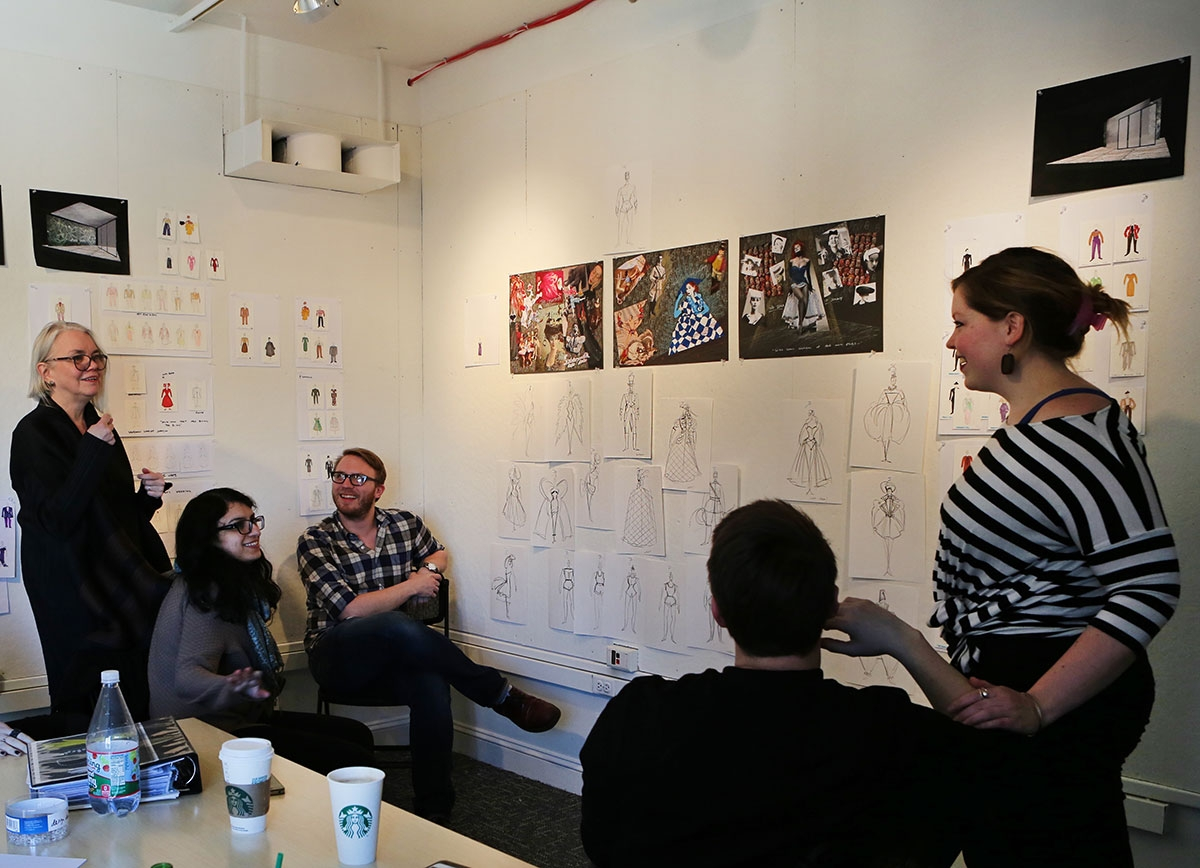Dedicated student workspace on mercer street for Nyu tisch design faculty