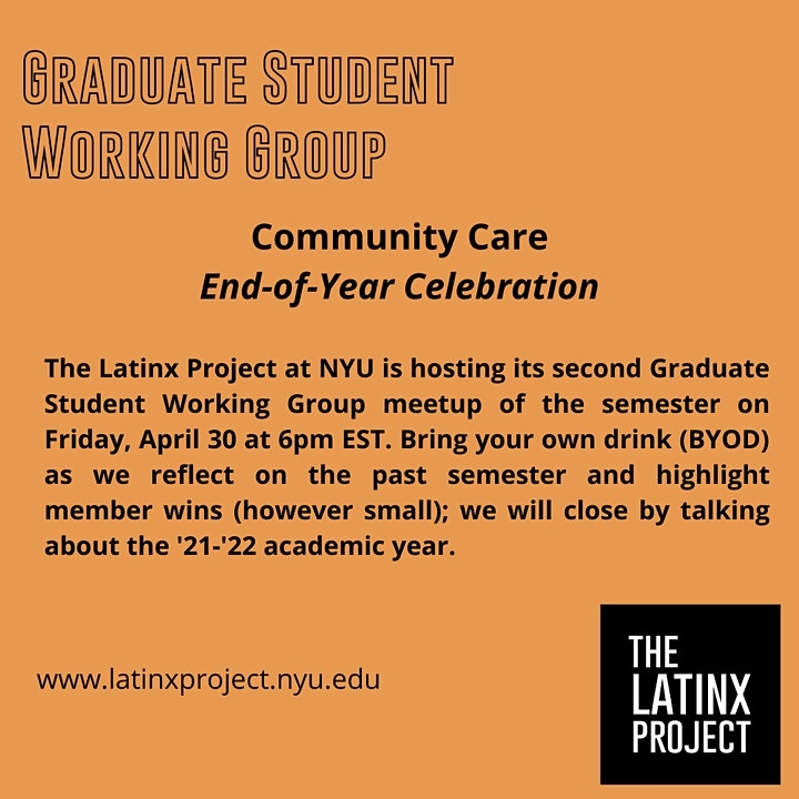 The Latinx Project Graduate Student Working Group