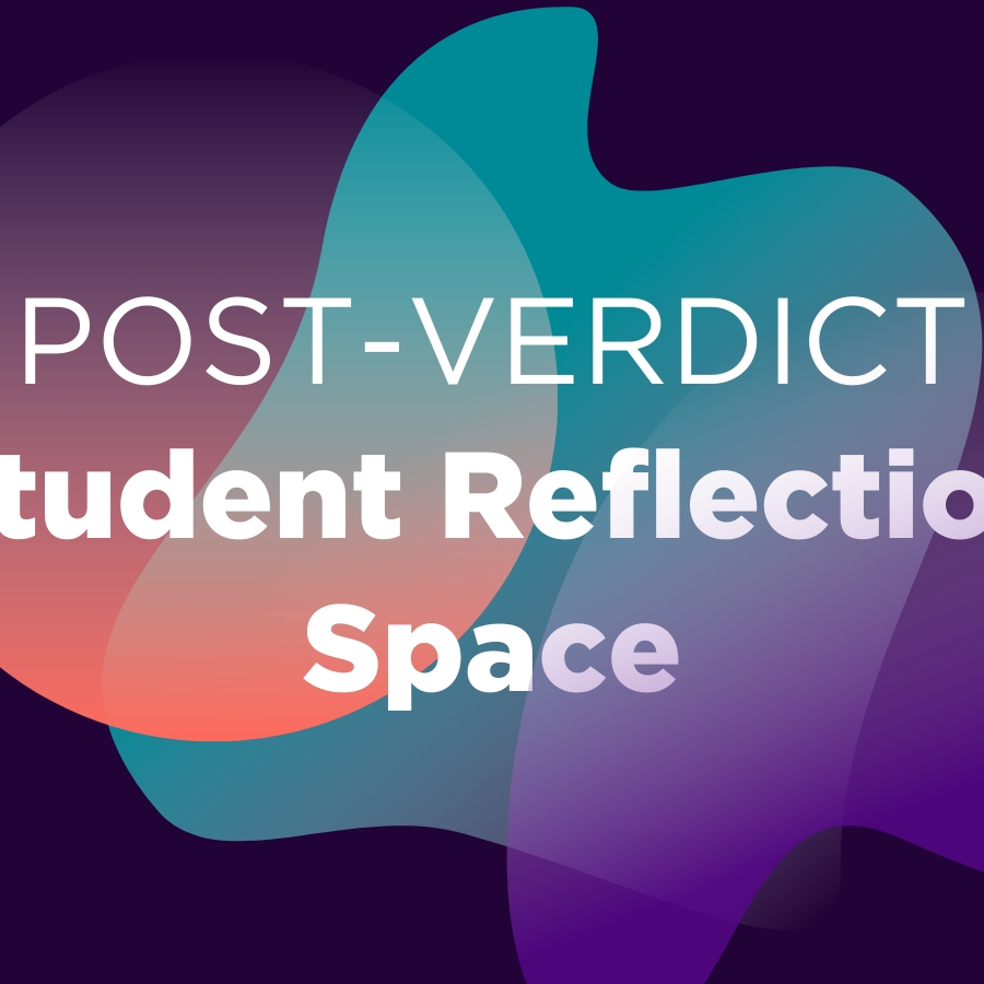 Post-Verdict Student Reflection Space