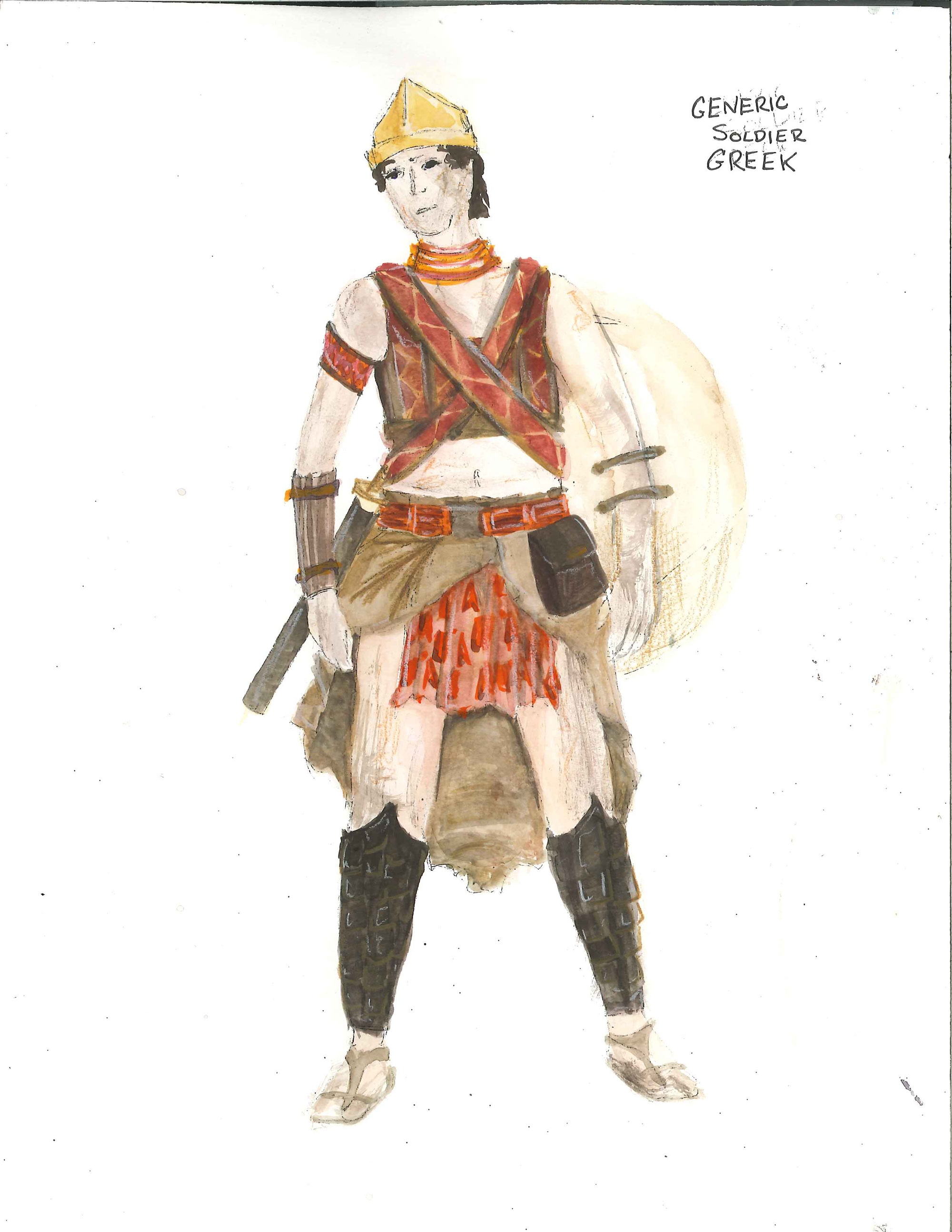 Dressing an ancient warrior for Nyu tisch fashion design