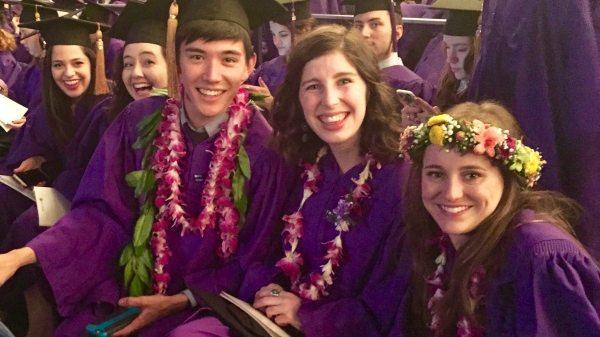 Tisch graduates at NYU Commencement