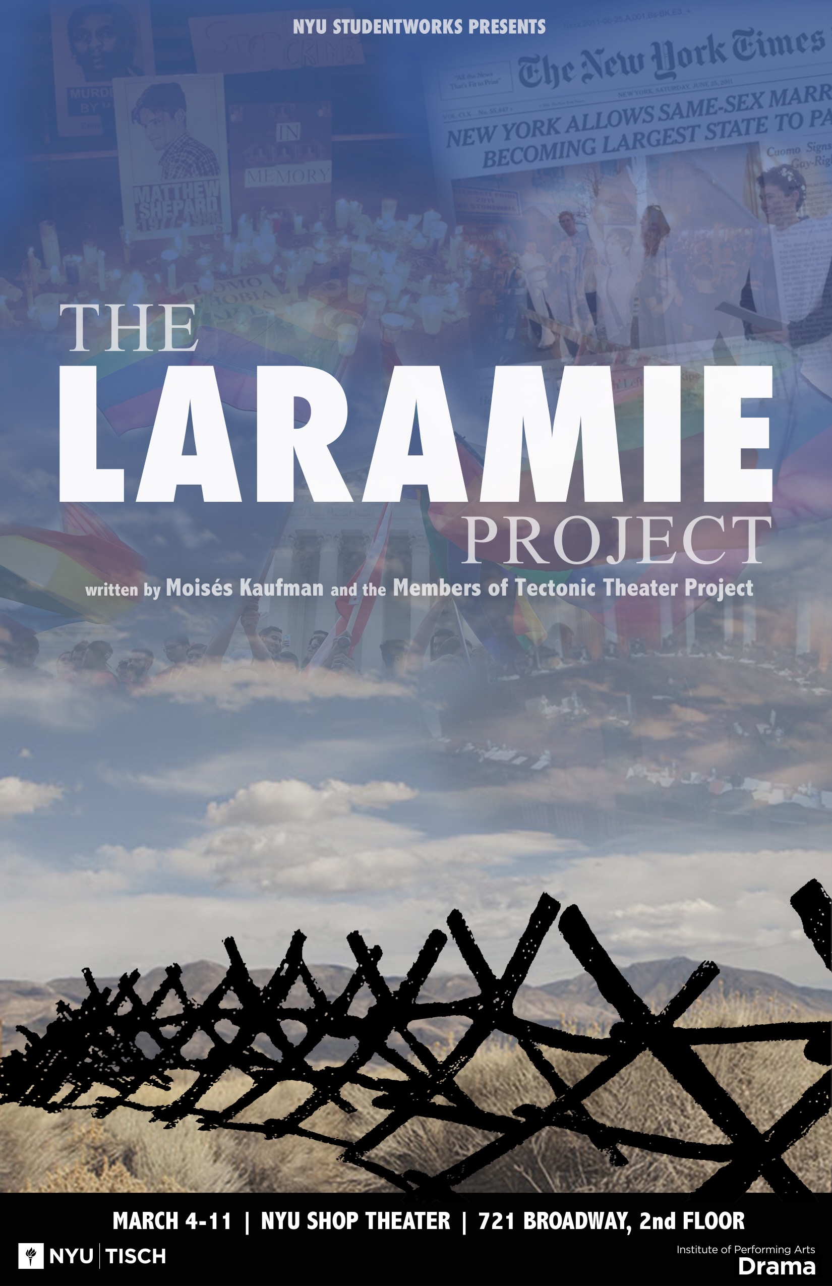the laramie project For a year and a half following the murder of matthew shepard, moisés kaufman and his tectonic theater project–whose previous play, gross indecency, was hailed as a work of unsurpassed originality–conducted hundreds of interviews with the citizens of laramie, wyoming, to create this portrait of.