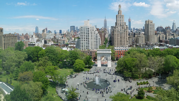 Washington Square Park, as seen from NYU Kimmel Center