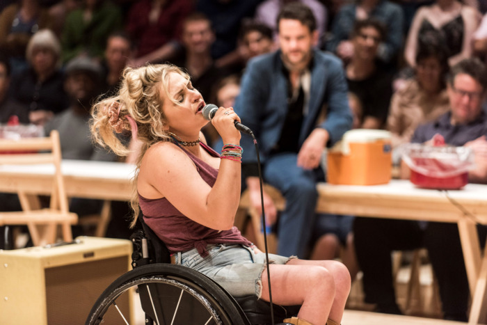Ali Stroker as Ado Annie, now transferring to Broadway