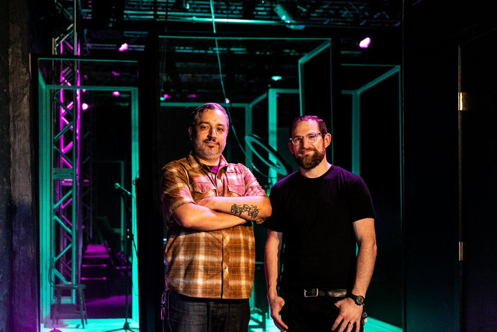 Rubén Polendo, the founder of Theater Mitu, and Justin Nestor, its associate artistic director, inside its new home in Gowanus.