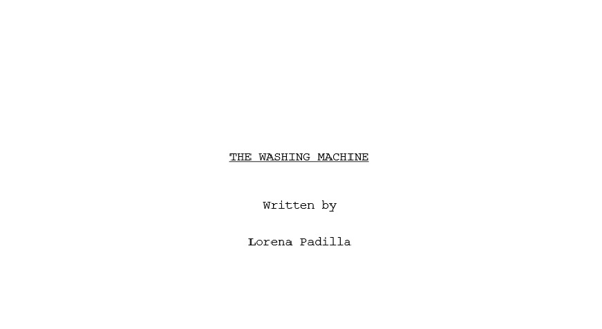 The Washing Machine Title Page