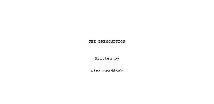 The Premonition Title Page