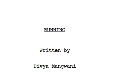 Running Title Page