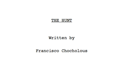 The Hunt Title Page
