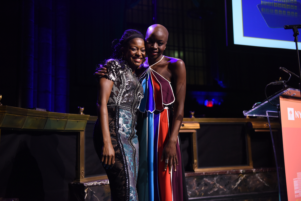 Presenter Pascale Armand and Honoree Danai Gurira