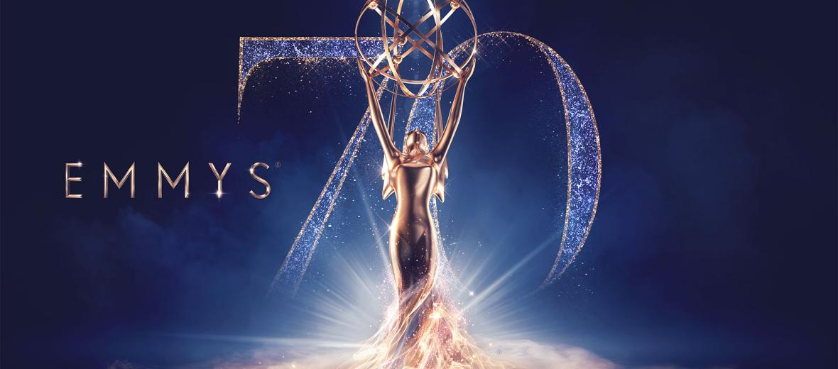 70th Emmy Awards logo with Award Statue