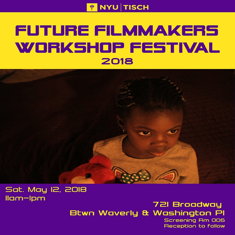 Future Filmmakers Workshop Festival 2018, Film still from a film in the festival of a little girl holding a teddy bear.