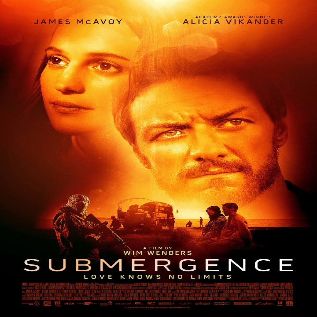Film Poster for Submergence with Alicia Vikander and James McAvoy