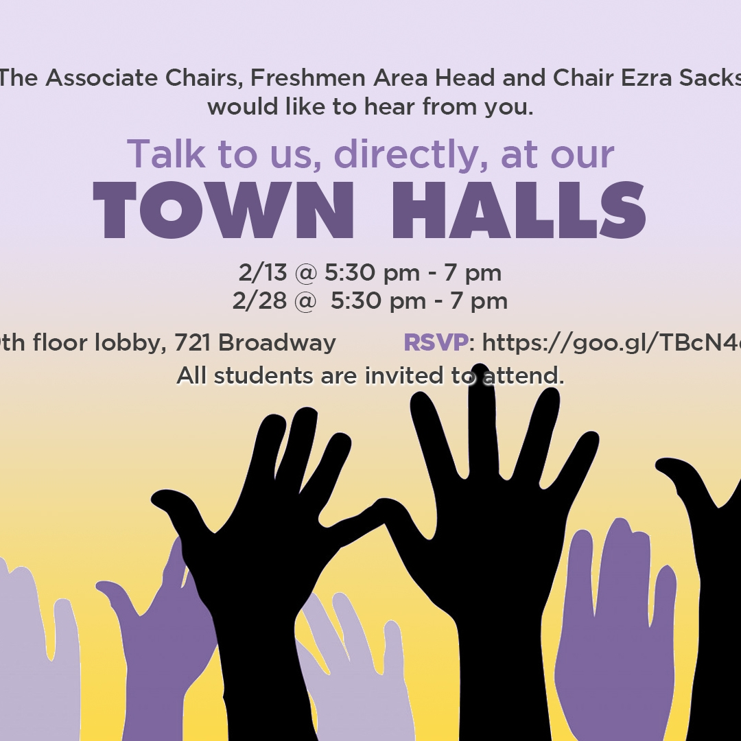 Talk to us, directly, at our TOWN HALLS