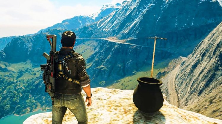 Just Cause 4's Rico Getting Over It Easter Egg