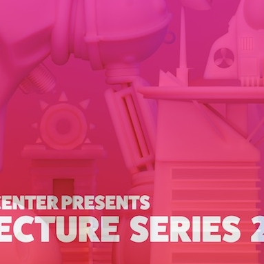 Pink castle overview poster for the 2018 NYU Game Center Lecture Series