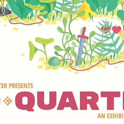 Woman explores a forrest in the 2018 No Quarter Poster