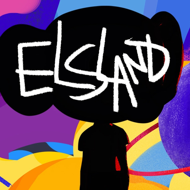 Graffit-esque poster for Elsland a game for the Big Screens Show
