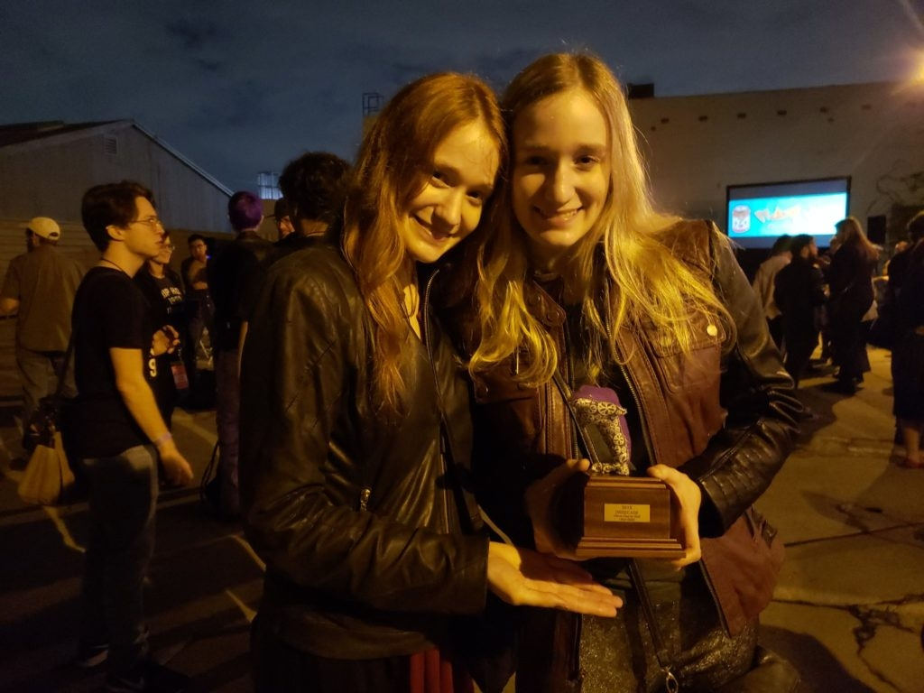 Kate Smith (BFA '18) with her IndieCade Award