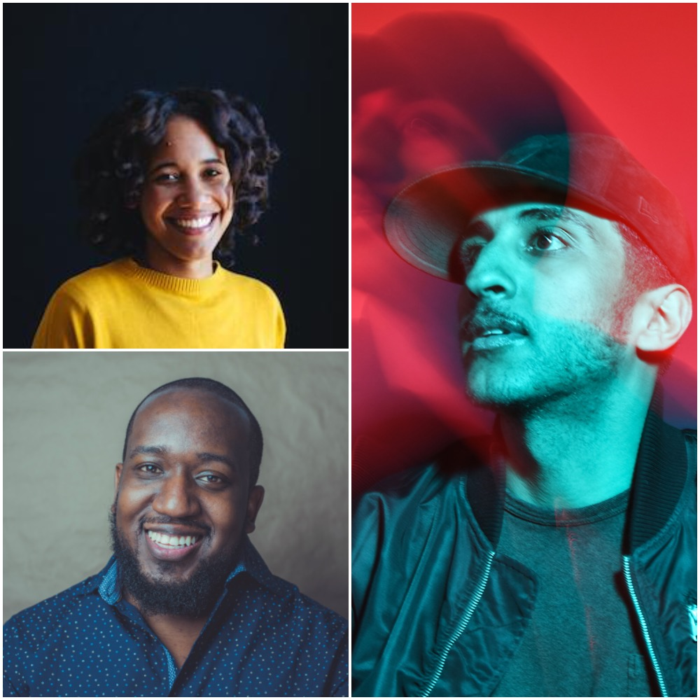 Clockwise from top left: Che Grayson, Raed Alsemari Kevin Wilson, Jr.