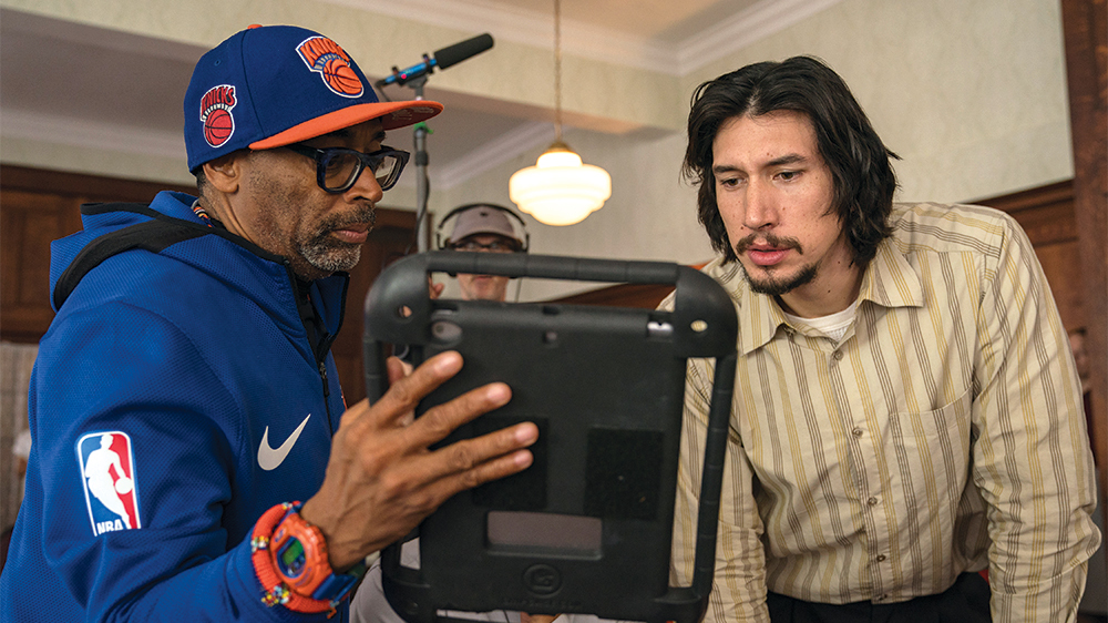 Spike Lee and Adam Driver