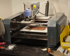 CNC mill for cutting circuit boards
