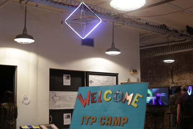 ITP Camp Welcome Sign in the entry way of ITP