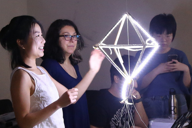 Campers marvel at lit up project