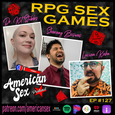 Poster that reads RPG Sex Games