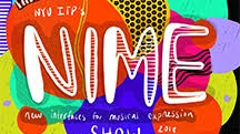 Colorful image that says NIME Show