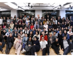 Winter 2019 panorama photo of ITP and IMA students