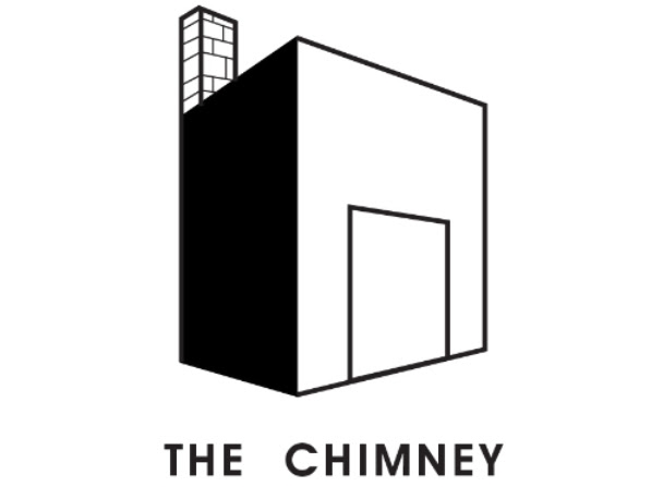 logo of The Chimney NYC - a black and white image of a building with a chimney